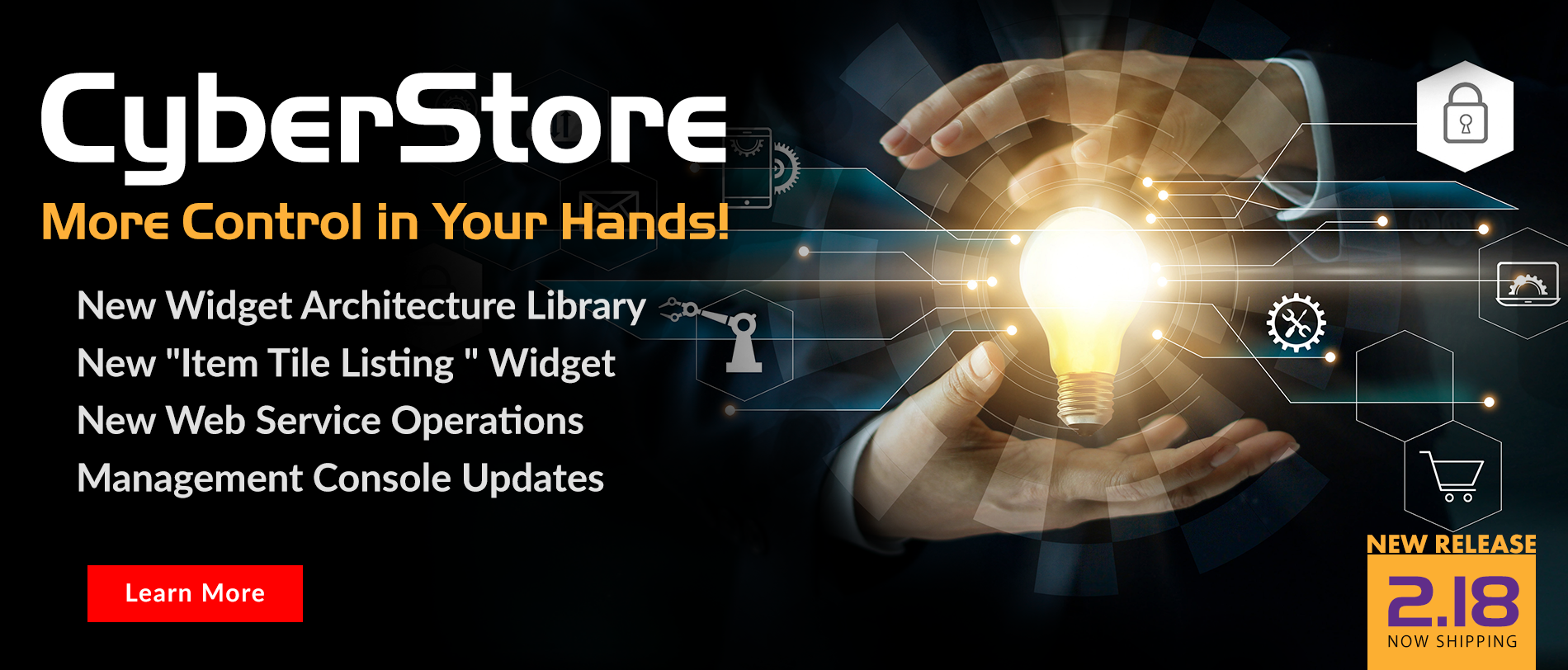 Feel the Power of CyberStore version 2.18  More Control In Your Hands